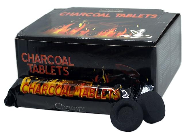 7249 - Κουτί με 10 Καρβουνάκια για ναργιλέ CHAMP CHARCOAL TABLETS 40447679 (33mm) 10 τεμάχια