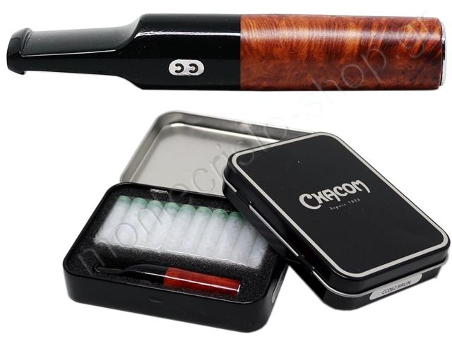 7482 - CHACOM CC062 BRUN 8mm & 6mm πίπα τσιγάρου (καφέ) Slim & Regular