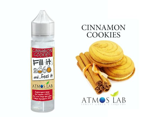 7733 - Atmos Lab CINNAMON COOKIES Fill it & Feel it Shake and Vape 20/60ML (κανέλα μπισκότο)