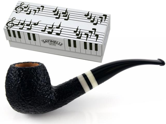 SAVINELLI PIANOFORTE 626 RUSTICA MODEL 9mm πίπα καπνού κυρτή