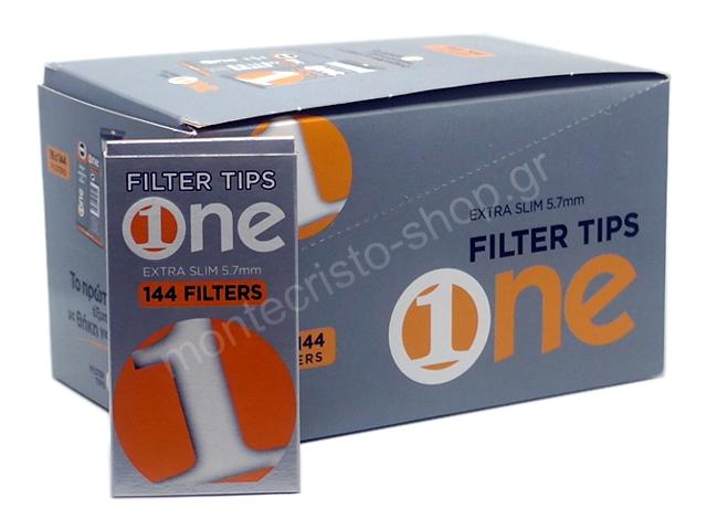 Φιλτράκια στριφτού One 5.7mm Extra Slim 144 (Κουτί με 16 πακετάκια)