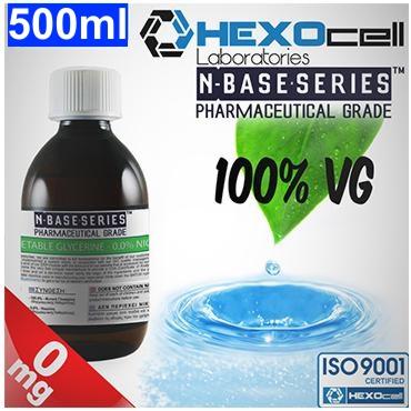 Βάση Hexocell nbase 100% VG, νικοτίνη 0%, 500ml