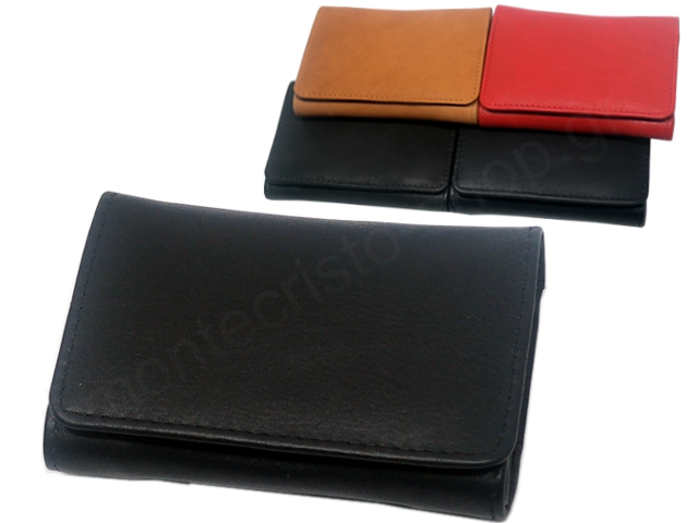 8042 - MARVEL 1442 (μαύρο καφέ κόκκινο ταμπά) δερμάτινη καπνοθήκη