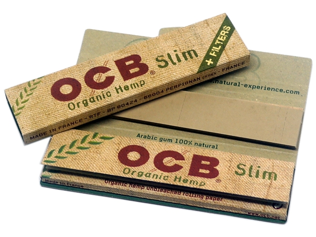 8045 - Χαρτάκια στριφτού OCB ORGANIC HEMP King Size Slim and Filter Tips