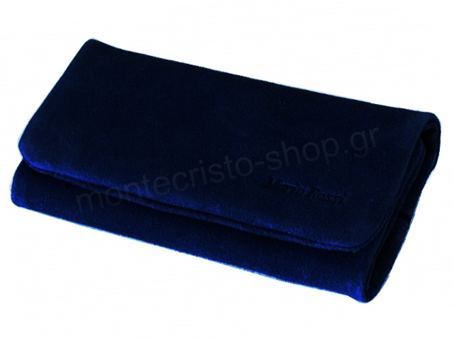 MARIO ROSSI 2681-08 NAVY BLUE δερμάτινη καπνοθήκη σουέτ