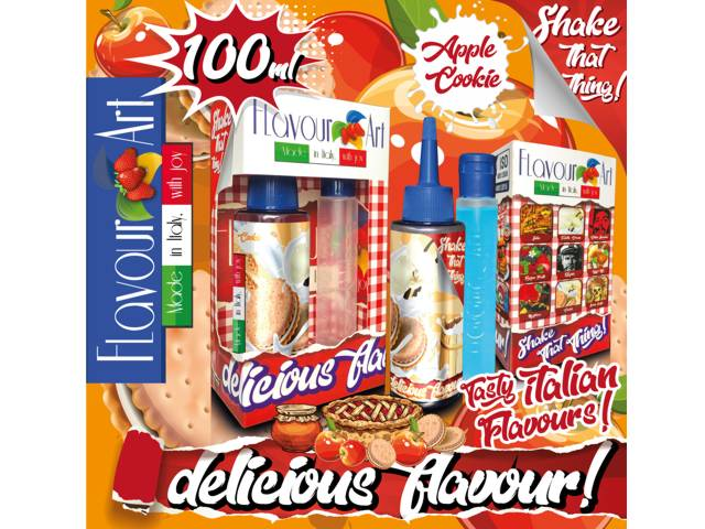 FLAVOURART MIX AND SHAKE COOKIE APPLE 100ML (μπισκότο και μήλο)