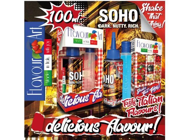 8144 - FLAVOURART MIX AND SHAKE SOHO 100ML (καπνικό με ξηρούς καρπούς)