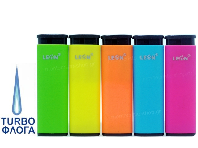 8153 - LEON WINDPROOF LIGHTER FLUO COLOURS 170119