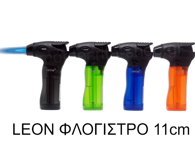 8169 - LEON FLAME TORCH LIGHTER 170133 ΦΛΟΓΙΣΤΡΟ 11cm