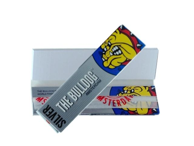 8184 - Χαρτάκια στριφτού THE BULLDOG PAPERS AND FILTER TIPS KING SIZE SILVER SLIM Hemp