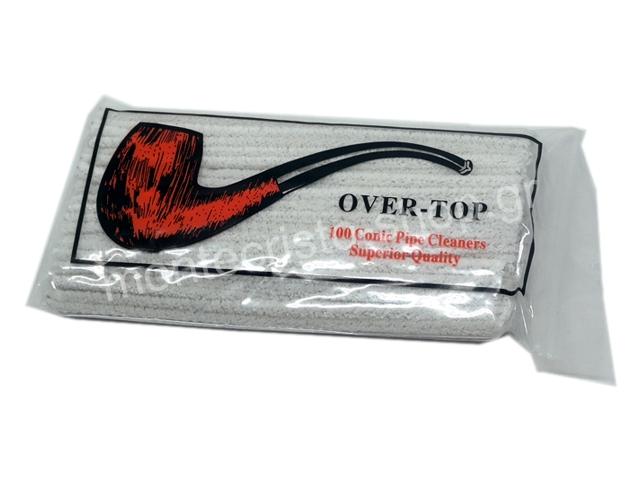 Καθαριστικά πίπας καπνού OVER TOP 100 ΜΑΛΑΚΑ ΛΕΥΚΑ Conie Pipe Cleaners