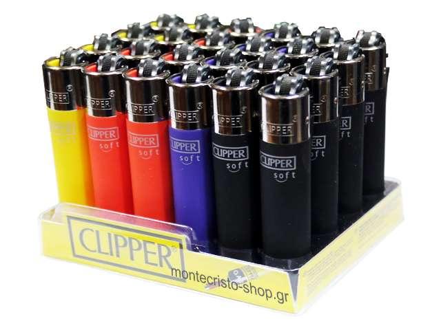 8233 - Clipper CP22RH SOFT TOUCH 3 MICRO SMALL 104353014 (κουτί με 24 αναπτήρες)