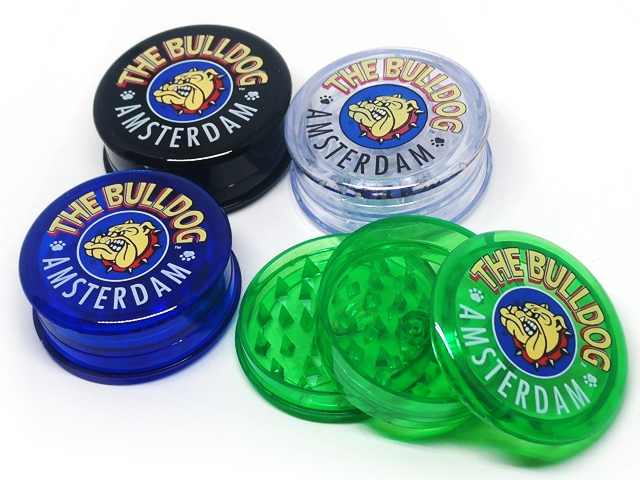 Τρίφτης καπνού THE BULLDOG AMSTERDAM GRINDER GREEN / BLACK / BLUE / TRANS 60mm GR000 / 81 / 82 /83 / 56