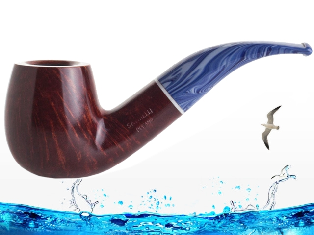 8387 - SAVINELLI OCEANO 616 KS SMOOTH BURGUNDY 9mm πίπα καπνού κυρτή