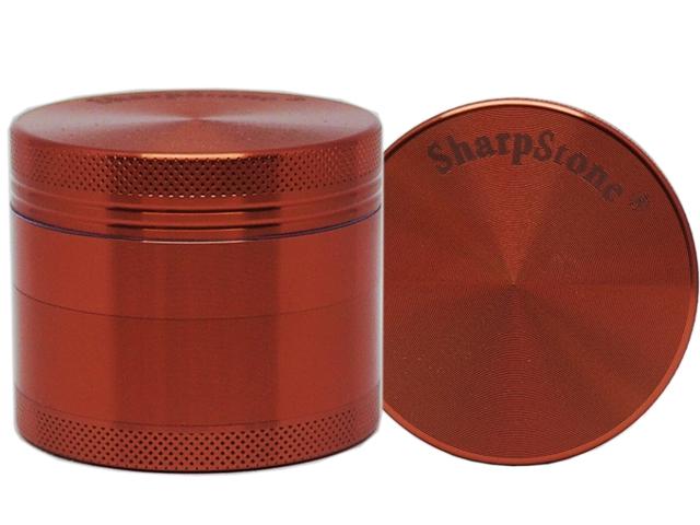 Τρίφτης καπνού SHARPSTONE AL 2.2 (4 parts) GRINDER 53mm 12375 BURGUNDY (μπρονζέ αλουμίνιο)