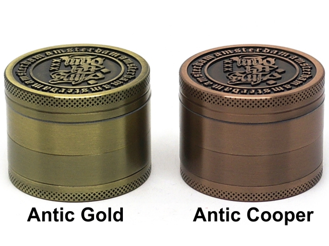 Τρίφτης καπνού AMSTERDAM 4 parts GRINDER ANTIC COOPER & ANTIC GOLD 50mm (μεταλλικός) BN-25MIX