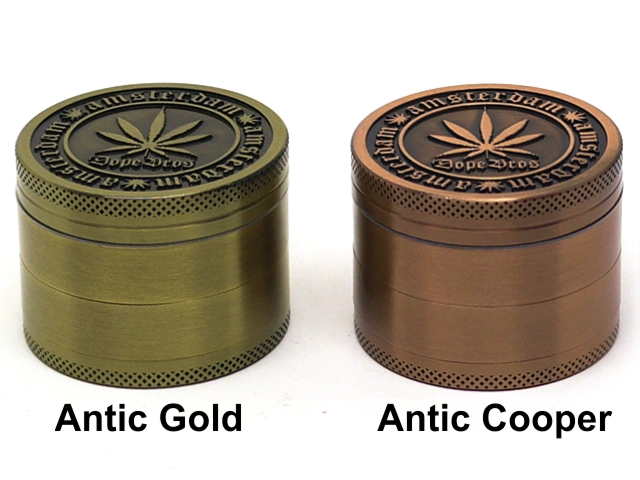 Τρίφτης καπνού DOPE BROS AMSTERDAM 4 parts GRINDER ANTIC COOPER & ANTIC GOLD 50mm (μεταλλικός) BN-21MIX