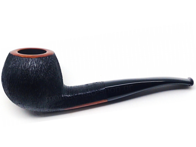 8458 - Stanwell Pipe Brushed Black Rustic Model Ass 9mm