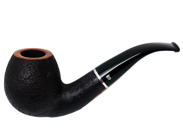 8472 - Stanwell Relief 185 Black Sand 9mm πίπα καπνού κυρτή