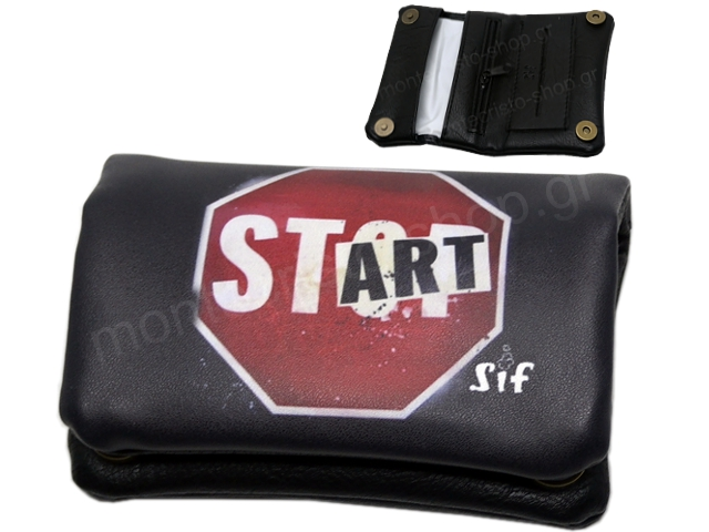 SIF 77 MINI DONUT PRINTED STOP START (για χύμα καπνό) καπνοθήκη