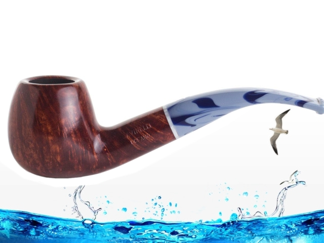 8509 - SAVINELLI OCEANO 626 SMOOTH BURGUNDY 9mm πίπα καπνού κυρτή