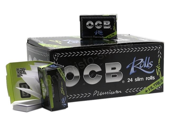 8543 - Ρολό με τζιβάνες OCB Slim Premium + Filter Tips Rolls (κουτί των 24)