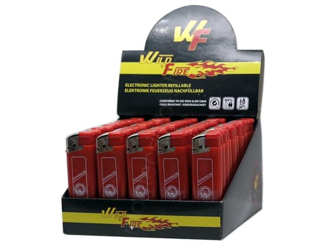 8585 - Κουτί με 50 αναπτήρες ΟΛΥΜΠΙΑΚΟΣ 338 RED WLDE FIRE electronic μεγάλος