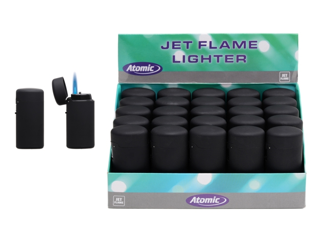 ATOMIC Jet Lighter Slim Black 2517050 box of 25