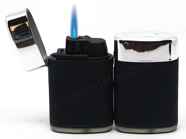Αντιανεμικός αναπτήρας ATOMIC Jet Lighter black rubber + 2516014