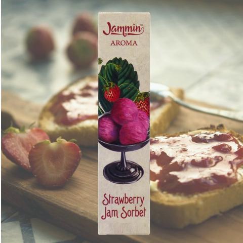 8657 - JAMMIN MIX AND VAPE STRAWBEERY JAM SORBET 20/60ml (μαρμελάδα σορμπέ φράουλα)