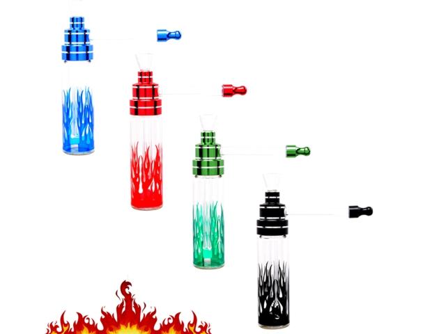 8672 - Μπονγκ Waterpipe Atomic Pipe Flames 14.5cm 0212768