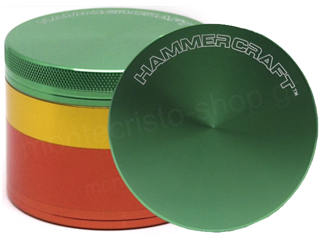 Τρίφτης καπνού HAMMERCRAFT 4 PARTS ALUMINUM 2 1/2 GRINDER RASTA 63mm 13701