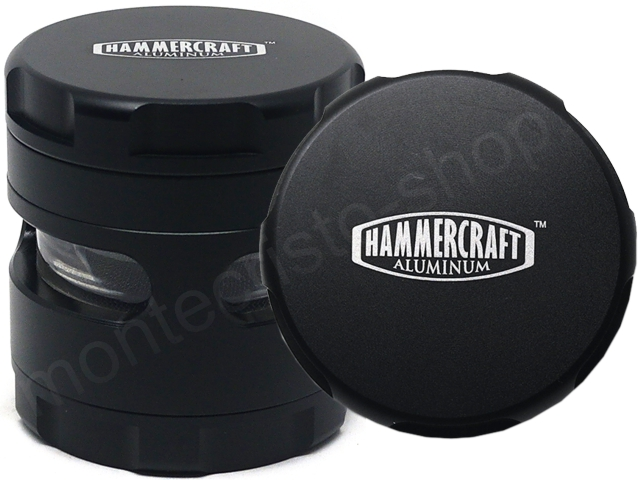 Τρίφτης καπνού GRINDER HAMMERCRAFT EYE BLACK 4 PARTS ALUMINUM 61mm 13702