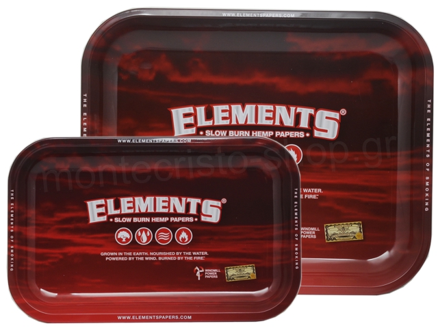 8729 - ΔΙΣΚΟΣ ELEMENTS ROLLING TRAY RED METAL (SMALL & MEDIUM)