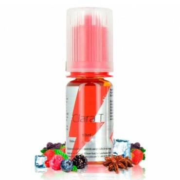 8740 - Άρωμα T-Juice CLARA-T 10ml (παγωμένα βατόμουρα με γλυκάνισο και μέντα)