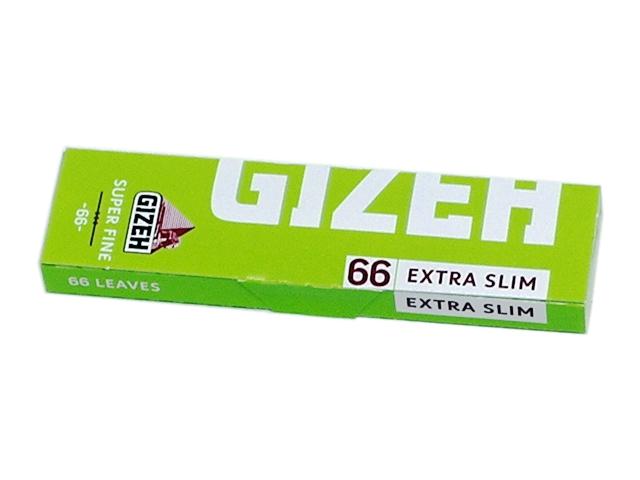 Χαρτάκια GIZEH Extra Slim Super Fine 66 (λαχανί στενά)