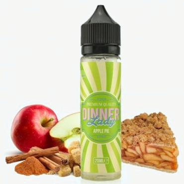 8758 - DINNER LADY FLAVOUR SHOT MIX AND SHAKE APPLE PIE 20/60ml (μηλόπιτα) μίξη με VG