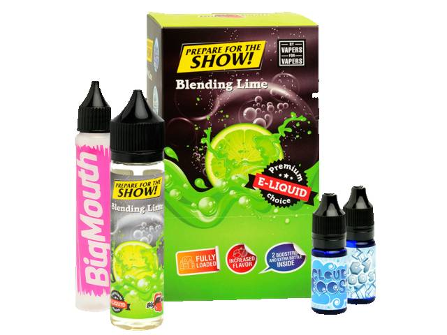 8800 - BIG MOUTH SHAKE AND VAPE PREPARE FOR THE SHOW BLENDING LIME 50ml + 20ml βάσεις (λάιμ)