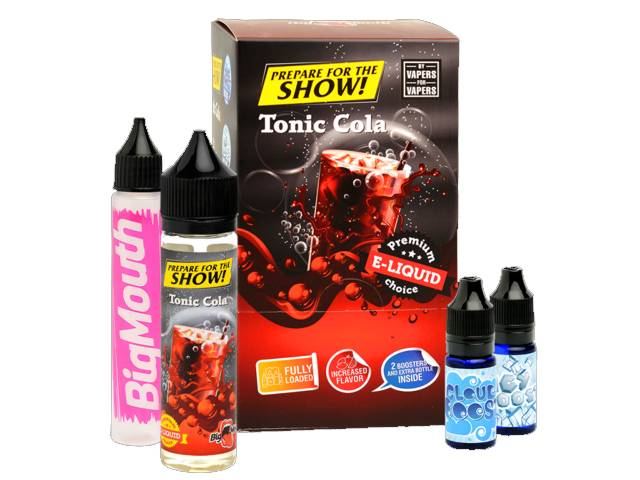 8802 - BIG MOUTH SHAKE AND VAPE PREPARE FOR THE SHOW TONIC COLA 50ml + 20ml βάσεις (τόνικ με κόκα κόλα)