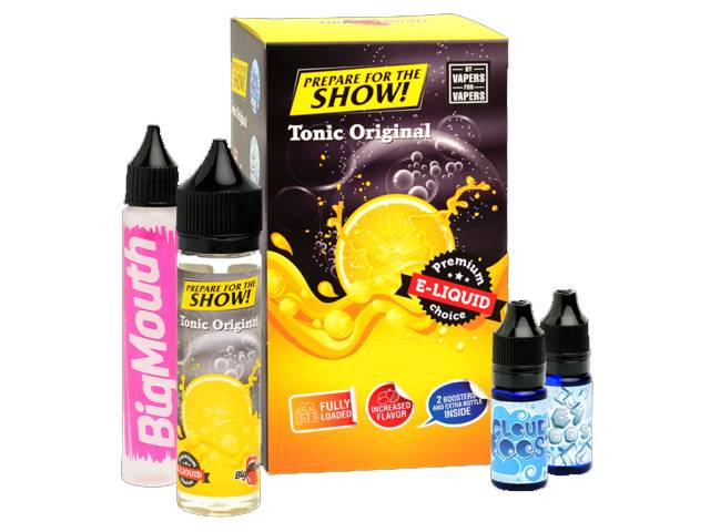 8803 - BIG MOUTH SHAKE AND VAPE PREPARE FOR THE SHOW TONIC ORIGINAL 50ml + 20ml βάσεις (τόνικ με λεμόνι)