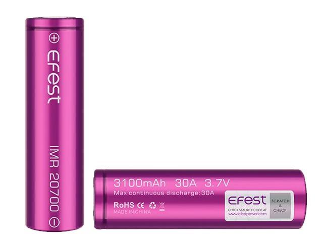 8852 - Efest 20700 3100mAh 30A flat top battery (με σύστημα αυθεντικότητας scratch and check)