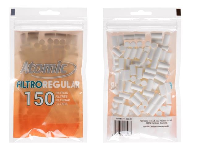 8902 - Φιλτράκια στριφτού Atomic FILTROREGULAR 8mm 150 Art 0163000