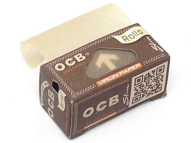 OCB ROLLS VIRGIN PAPER SLIM UNBLEACHED