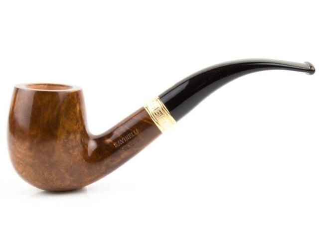 8978 - SAVINELLI TEVERE 606 SMOOTH 9mm KS πίπα καπνού κυρτή