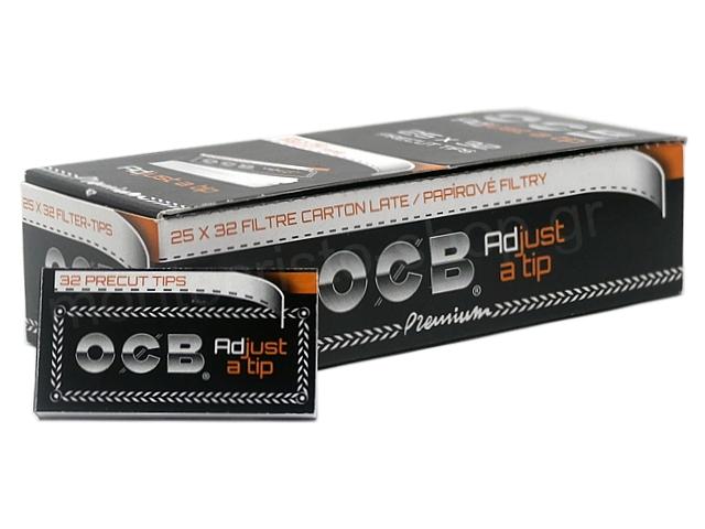 8989 - Τζιβάνες OCB Adjust a tip 32 Precut tips (κουτί των 25)