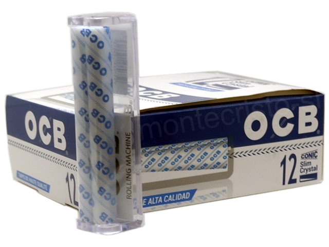 8993 - OCB CONIC SLIM CRYSTAL για KS κώνους μηχανή στριφτού (κουτί των 12)