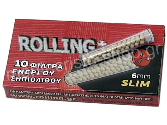 ROLLING ΣΗΠΙΟΛΙΘΟΣ SLIM ΦΙΛΤΡΑ 6mm (πακετάκι των 10) ΠΙΠΑΣ ΤΣΙΓΑΡΟΥ