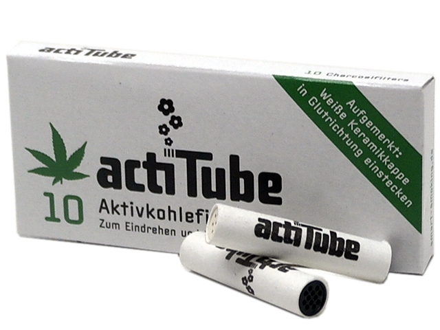 actiTube 10 φίλτρο ενεργού άνθρακα 9mm ΦΙΛΤΡΑ ΠΙΠΑΣ ΚΑΠΝΟΥ