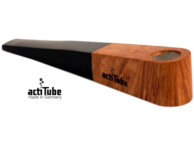 9017 - Ξύλινη πίπα με σίτα actiTube Briar Wood με φίλτρο ενεργού άνθρακα