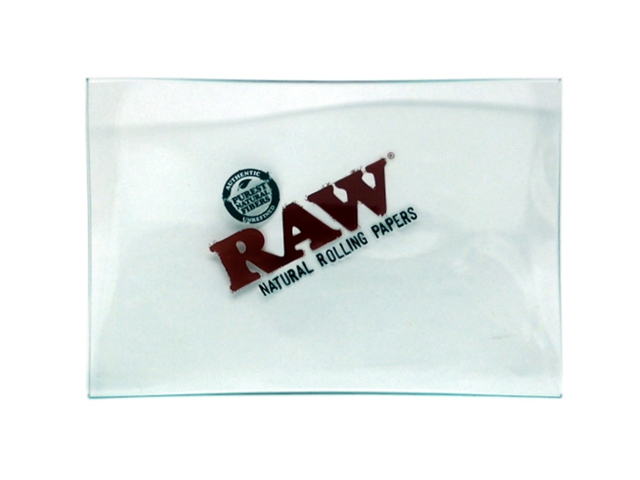 9024 - RAW GLASS TRAY DOUBLE THICK ROLLING TRAY MINI